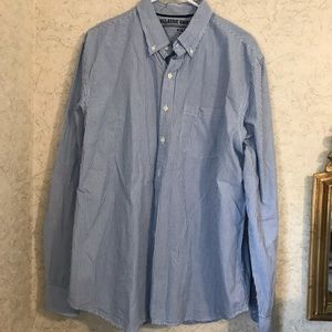 🆕 Like new MENS old navy blue striped button down